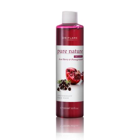 Гель для умывания Гранат и ягода асаи Pure Nature Organic Acai & Pomegranate Antioxidant Face Wash от Oriflame