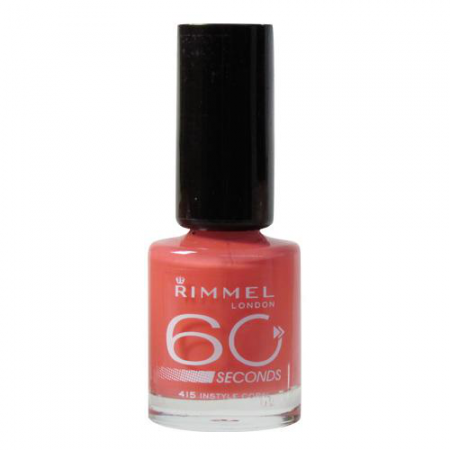 "Лак для ногтей ""60 секунд"" №415 Instyle Coral от Rimmel"