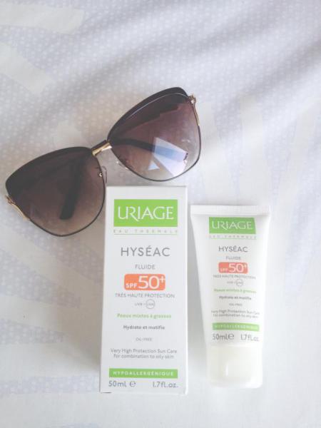 Солнцезащитный флюид для лица SPF 50 из серии Hyseac от Uriage
