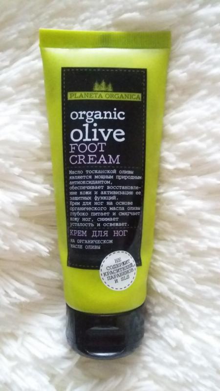 Крем для ног Organic olive от Planeta Organica