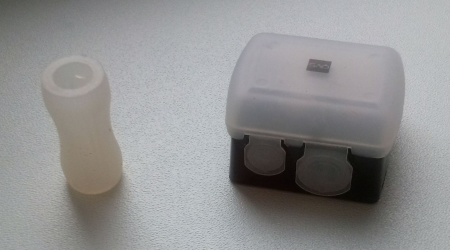 Точилка для косметических карандашей двойная с контейнером от QVS