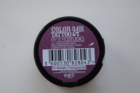 Тени-тату для век Color Tatoo 24 HR Cream Gel Shadow (оттенок № 70 Metallic Pomegranate) от Maybelline