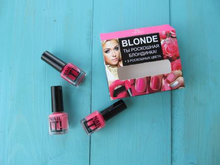 Набор лаков для ногтей Blonde от Jerden