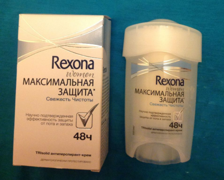 Антиперспирант-крем TriSolid, защита на 48 часов от Rexona