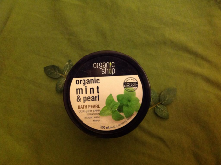Соль для ванн (органический экстракт мяты, жемчуг) от Organic Shop