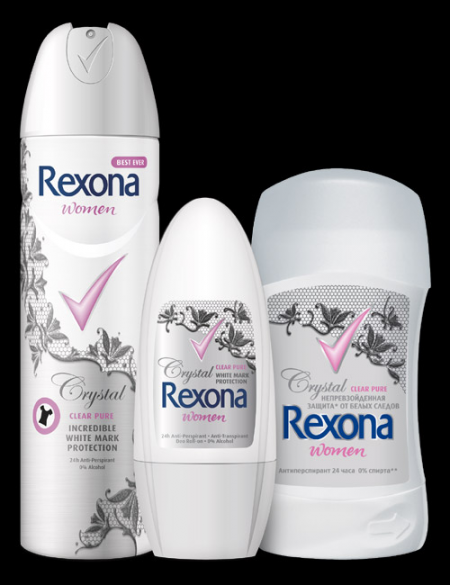 Антиперспирант Crystal Clear Pure от Rexona
