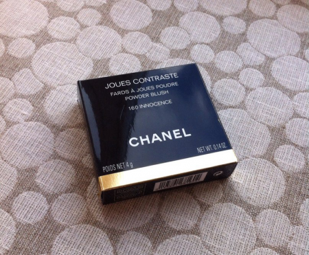 Румяна Joues Contraste Powder Blush Chanel Fall 2014 Etats Poetiques Collection (оттенок № 160 Innocence) от Chanel