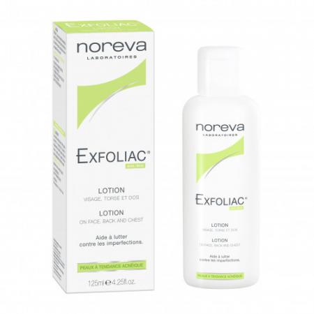 """Очищающий лосьон для лица с AHA+BHA """"Exfoliac"""" от NOREVA LED"""