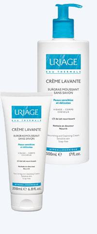 Очищающий пенящийся крем для лица - питательное и очищающее средство без мыла от Uriage