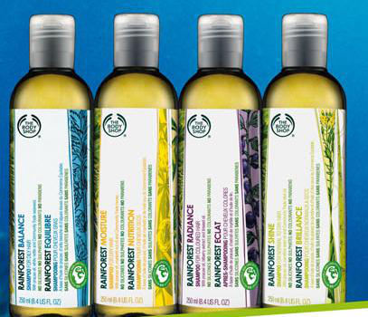 Шампунь Rainforest Balance и кондиционер Rainforest Radiance из серии Eco-conscious Rainforest от The Body Shop