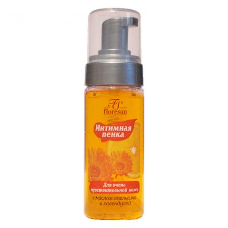 Интимная пенка для очень чувствительной кожи с маслом апельсина и календулой от Floresan