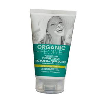 Оливковая bio-маска для волос для всех типов волос от Organic People