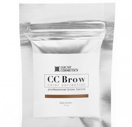 Хна для бровей CC Brow (оттенок Grey Brown) от Lucas Cosmetics
