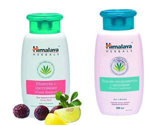Шампунь для жирных волос и бальзам-ополаскиватель с протеинами от Himalaya Herbals