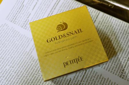 Патчи для глаз против отеков и тёмных кругов Hydro Gel Eye Patch Gold & Snail от Petitfee