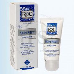 Увлажняющий крем для контура глаз Skin Rest эффект 8 часов сна от RoC