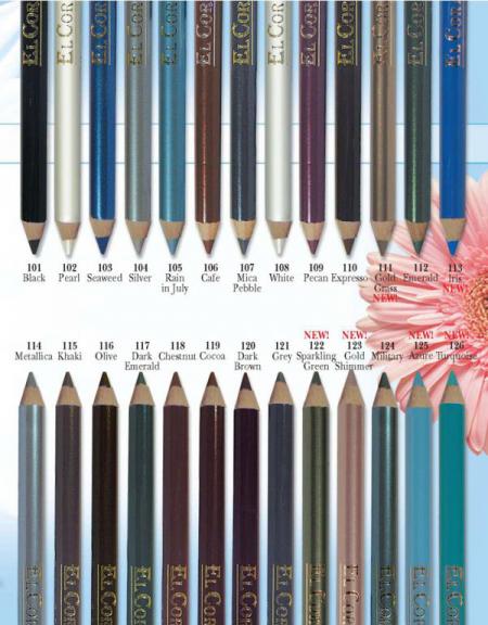 Влагоустойчивые карандаши для глаз от El. Corazon