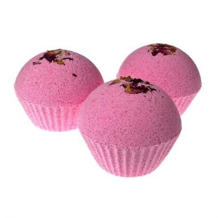 Бурлящий шар ручной работы «Розовое настроение» от Мыловаров