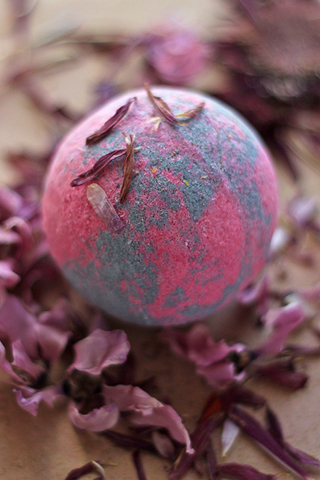 "Бурлящий шар для ванны ""Пачули-ваниль"" от Stenders"