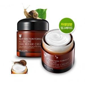 Многофукциональный крем для лица All In One Snail Repair Cream от Mizon