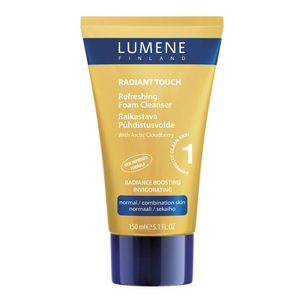Очищающая освежающая пенка для лица Radiant Touch от Lumene
