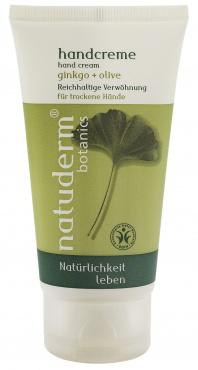 """Крем для рук """"Гинкго и Олива"""" для сухой кожи от Natuderm botanics"""