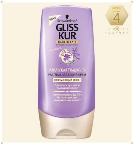 Разглаживающий крем для непослушных и вьющихся волос Gliss Kur от Schwarzkopf