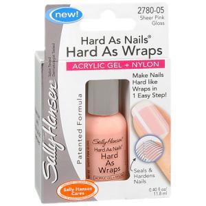 Акриловый укрепляющий лак для ногтей MAKE UP HARD AS NAILS HARD AS WRAPS от Sally Hansen