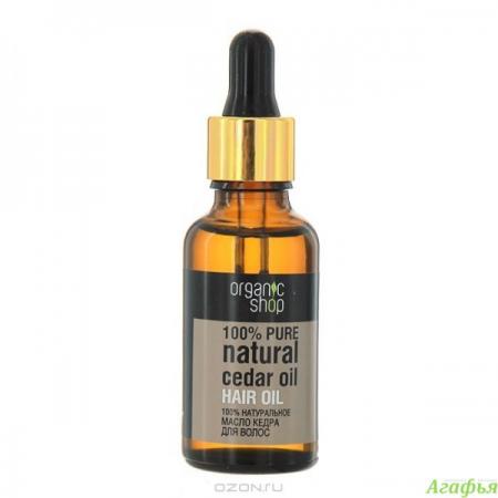 100% натуральное масло кедра для волос от Organic Shop