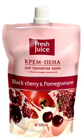 """Крем-пена для принятия ванн с увлажняющим молочком """"Черешня и гранат"""" от Fresh Juice"""