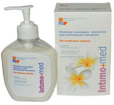 """Нежное моющее молочко для интимной гигиены Intimo+Med от НПО """"Эльфа"""""""