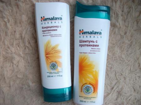 Шампунь и бальзам с протеинами для нормального типа волос от Himalaya Herbals