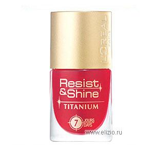 Устойчивый лак для ногтей Resist & Shine Titanium от L'Oreal
