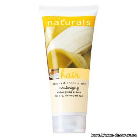 """Увлажняющий крем для облегчения расчесывания волос """"Кокосовое молоко и банан"""" от Avon"""