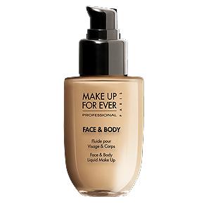 Тональный крем «Face and Body Liquid Make Up» от Make Up For Ever