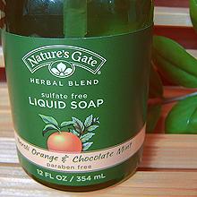 Жидкое мыло «Апельсин и шоколадная мята» от Nature's Gate
