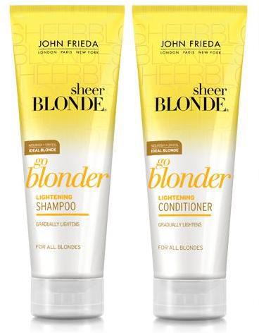 Осветляющие шампунь и кондиционер Go Blonder от John Frieda
