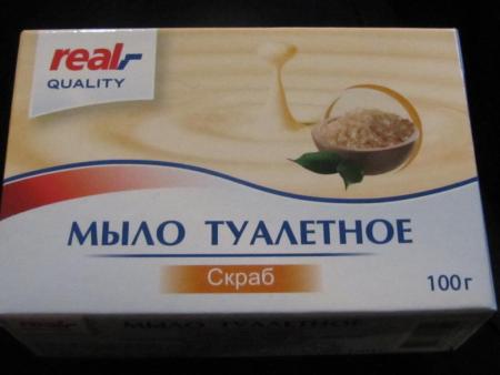 Мыло туалетное Скраб от Real