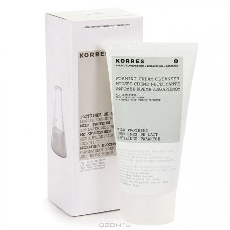 """Очищающая крем-пенка для лица """"Молочные протеины"""" от Korres"""