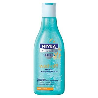Мягкий очищающий гель для лица WASH OFF от Nivea