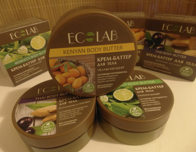 """Крем-баттер для тела """"Увлажняющий"""", """"Питательный"""" и """"Витамины для кожи"""" от ECOLAB"""