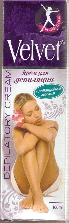 """Крем для депиляции """"Velvet"""" с лавандовым маслом от ООО """"Стелла"""""""