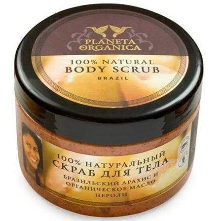 """Натуральный скраб для тела """"Бразильский арахис и ораническое масло нероли"""" от Planeta Organica"""
