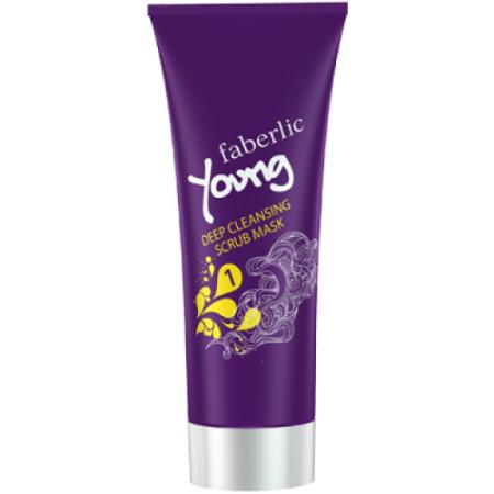Скраб-маска глубокого очищения для жирной и комбинированной кожи Young от Faberlic