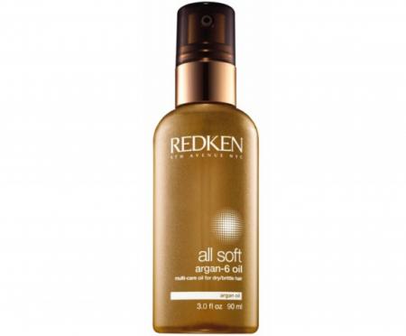 Аргановое масло для волос All Soft Argan-6 Oil от Redken
