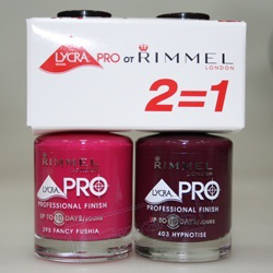 Набор лаков для ногтей Lycra Pro № 295 Fancy Fushia + № 403 Hypnotise от RIMMEL
