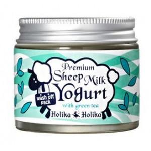 Маска для лица Premium Sheep Milk Yogurt with Green Teа от Holika Holika