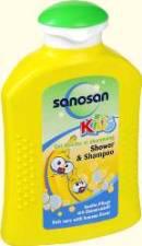 Гель для душа и шампунь с ароматом банана Sanosan kids от Sanosan