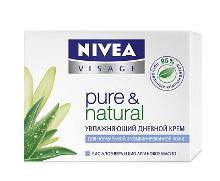Увлажняющий дневной крем для лица для нормальной и комбинированной кожи Pure&Natural от Nivea