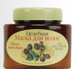 Маска для всех типов волос на основе луковой шелухи, репейного масла и меда от Рецепты бабушки Агафьи